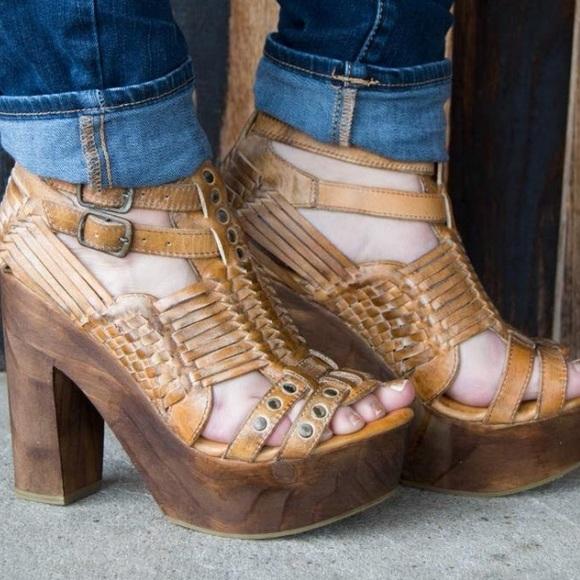 9bc2e0119941 Bed Stu Shoes - Bed Stu Cindy platform heeled sandals NWT. 8.5